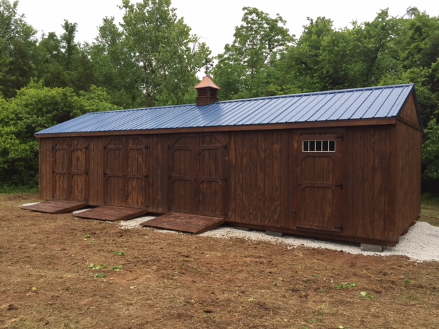 custom wood storage building