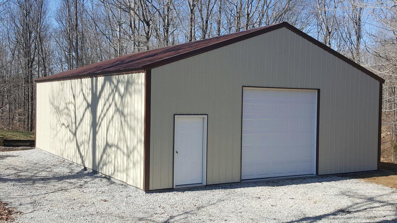 Custom garages workshops yoders dutch barns for Custom garage workshop