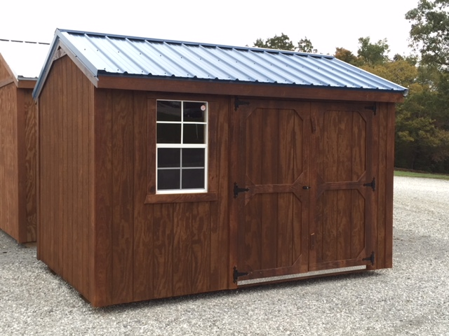 wooden garden storage building