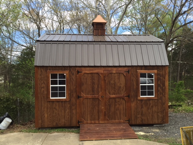 portable lofted barn storage building