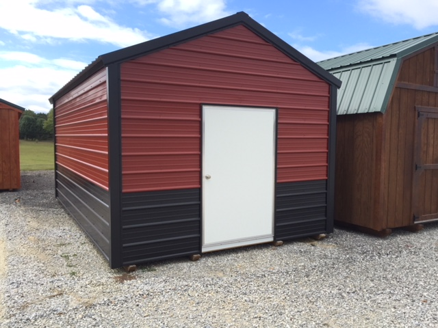 metal utility shed building