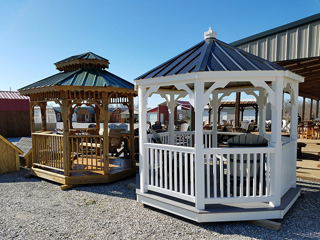 cedar and vinyl gazebos