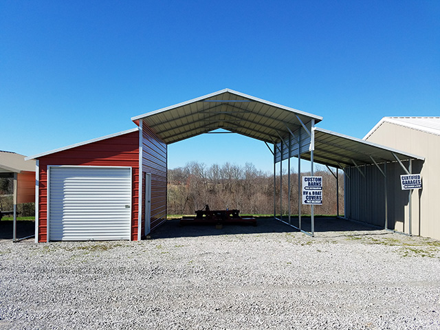 Portable Metal Garages | Metal Carports | Custom Workshops ...